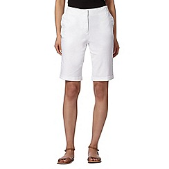 Maine New England - White buttoned pocket shorts