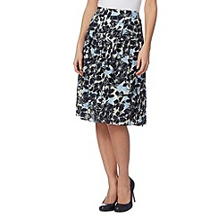 Maine New England - Navy Hawaii print skirt