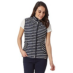 Maine New England - Navy striped gilet