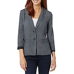 Maine New England - Navy tile print soft blazer