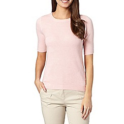 Maine New England - Pale pink soft ribbed jumper