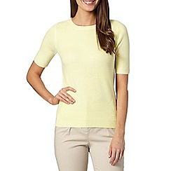 Maine New England - Yellow soft ribbed jumper