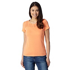 Maine New England - Orange pleated trim t-shirt