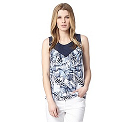 Maine New England - Light blue palm design top