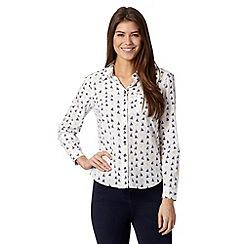 Maine New England - White boat print shirt