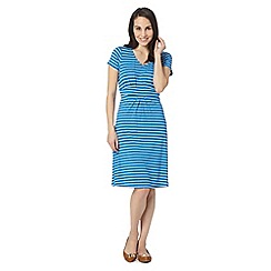 Maine New England - Bright blue striped jersey dress