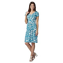 Maine New England - Turquoise floral tie back dress