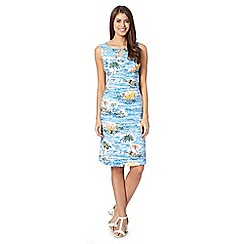 Maine New England - Light blue beach print dress