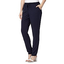 Maine New England - Navy soft woven trousers