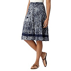Maine New England - Navy checked floral skirt