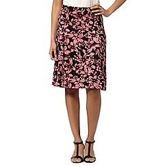 Maine New England - Pink tropical jersey skirt