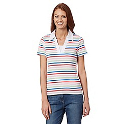 Maine New England - White striped collar top