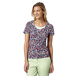 Maine New England - Bright pink floral print top
