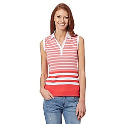 Maine New England - Bright pink striped collar vest