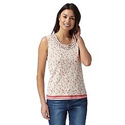 Maine New England - Pink print and stripe top