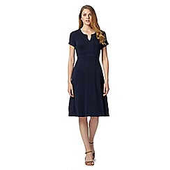 Maine New England - Navy notch neck jersey dress