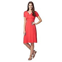 Maine New England - Bright pink notch neck jersey dress