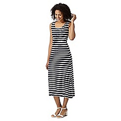 Maine New England - Navy striped jersey maxi dress