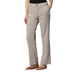 Maine New England - Taupe linen blend herringbone trousers