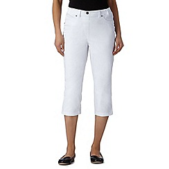 Maine New England - White cropped twill jeggings