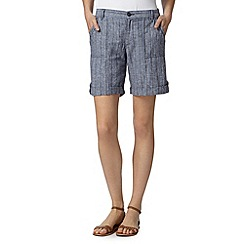 Maine New England - Blue striped linen shorts