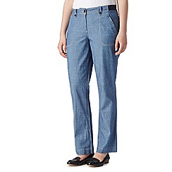 Maine New England - Light blue chambray trousers