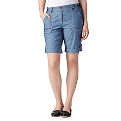 Maine New England - Light blue chambray shorts