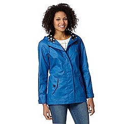 Maine New England - Bright blue hooded yachting jacket