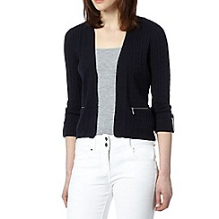 Maine New England - Navy cable knit cardigan
