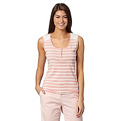 Maine New England - Pink striped broderie striped vest