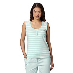 Maine New England - Pale green striped broderie vest