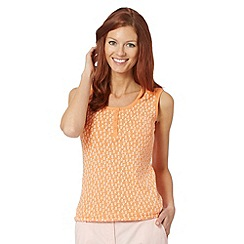 Maine New England - Light orange tulip broderie vest