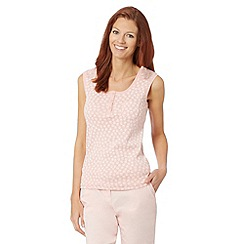 Maine New England - Pale pink daisy broderie vest