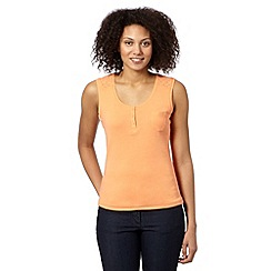 Maine New England - Light orange broderie strap vest