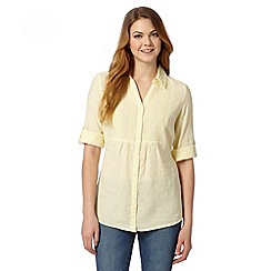 Maine New England - Yellow embroidered bib shirt