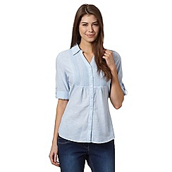 Maine New England - Pale blue embroidered bib shirt
