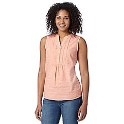 Maine New England - Light orange embroidered bib front top