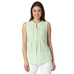 Maine New England - Light green linen blend blouse