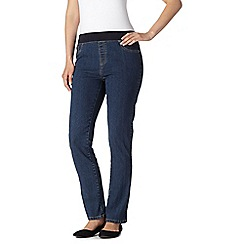 Maine New England - Mid blue ribbed waist jeggings