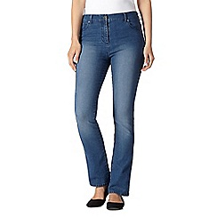 Maine New England - Indigo wash high-waisted bootcut jeans
