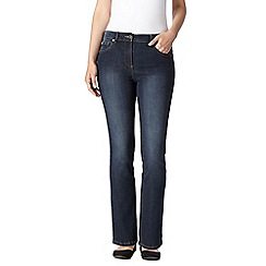 Maine New England - Dark blue high-waisted bootcut jeans