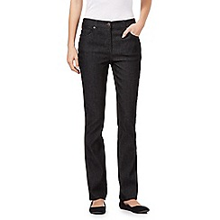 Maine New England - Black high-waisted bootcut jeans