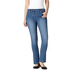 Maine New England - Light blue high-waisted straight leg jeans