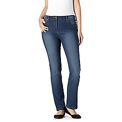 Maine New England - Indigo wash high-waisted straight leg jeans