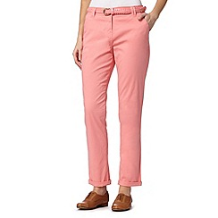 Maine New England - Pink plait belted chinos