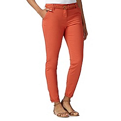 Maine New England - Orange belted tapered leg chinos