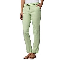 Maine New England - Bright green plaited belt chinos