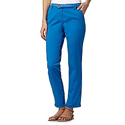 Maine New England - Bright blue plaited belt chinos