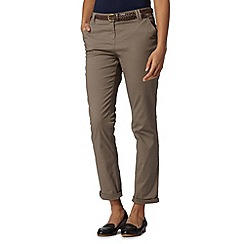 Maine New England - Taupe plaited belt chinos