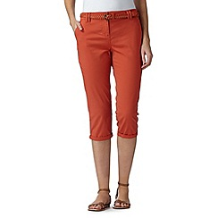 Maine New England - Dark orange plaited belt cropped chinos